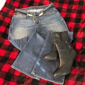 Eddie Bauer worn wash jeans